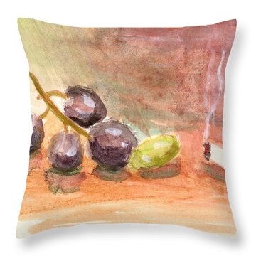 Grapeality Throw Pillow
