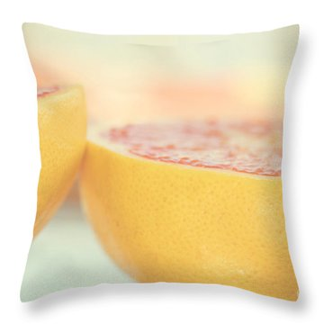 Grapefruit Throw Pillow by Kim Fearheiley