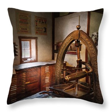 Graphic Artist - Graphic Workshop  Throw Pillow by Mike Savad