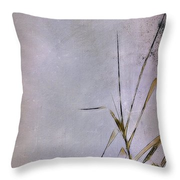 Grass And Wall Throw Pillow by Judi Bagwell