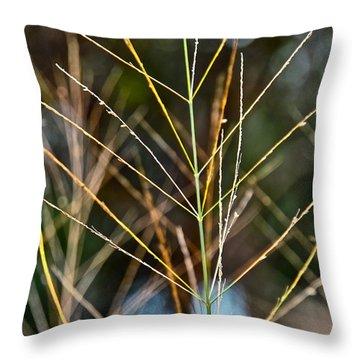 Grass Throw Pillow by Jocelyn Kahawai