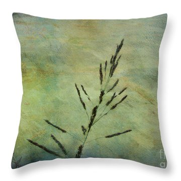 Grass Stem Throw Pillow by Judi Bagwell