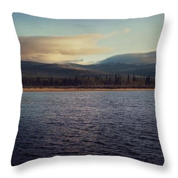 Gravel Lake Throw Pillow by Priska Wettstein