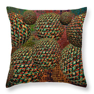 Gravity Chamber Throw Pillow by Debbie Portwood
