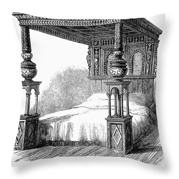 Great Bed Of Ware, C1590 Throw Pillow by Granger