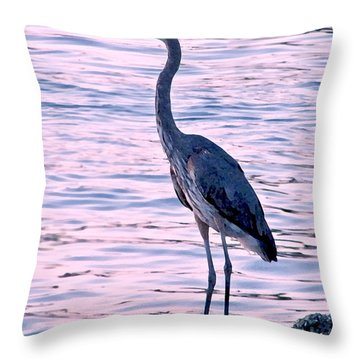 Throw Pillow featuring the photograph Great Blue Heron by Brian Wright