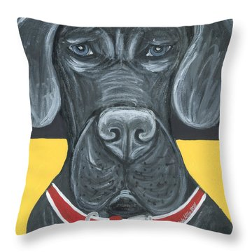 Great Dane Poster Throw Pillow by Ania M Milo