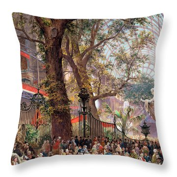 Great Exhibition Throw Pillow by Louis Haghe