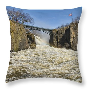 Great Falls Of Paterson    Throw Pillow
