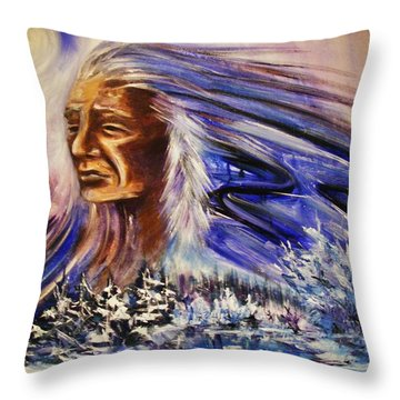 Great Father - Winter Throw Pillow
