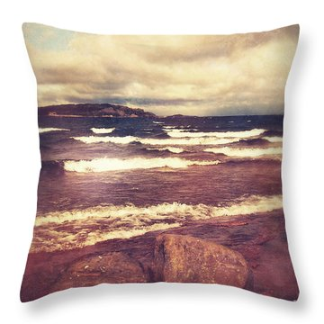 Throw Pillow featuring the photograph Great Lakes by Phil Perkins