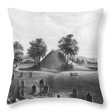 Great Mound At Marietta, 1848 Throw Pillow by Photo Researchers