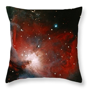 Great Nebula In Orion Throw Pillow by Science Source