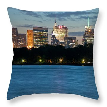 Great Pond Skyline Throw Pillow