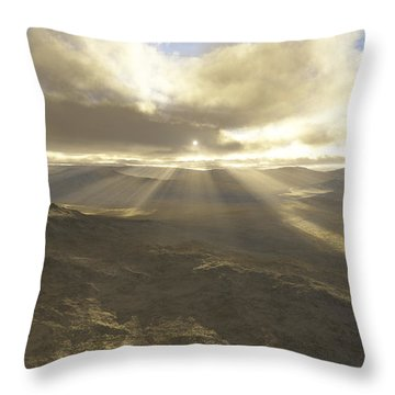 Great Valley Throw Pillow by Mark Greenberg