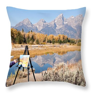 Great Workplace Throw Pillow by Bob and Nancy Kendrick