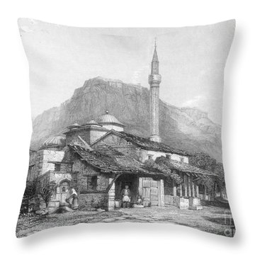 Greece: Corinth Throw Pillow by Granger