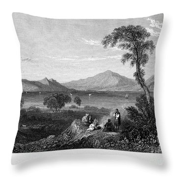 Greece: Gulf Of Salamis Throw Pillow by Granger