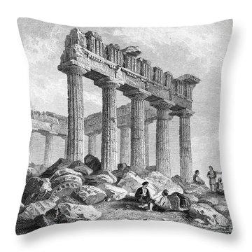 Greece: The Parthenon 1833 Throw Pillow by Granger