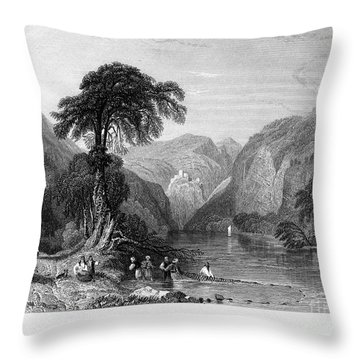 Greece: Vale Of Tempe Throw Pillow by Granger