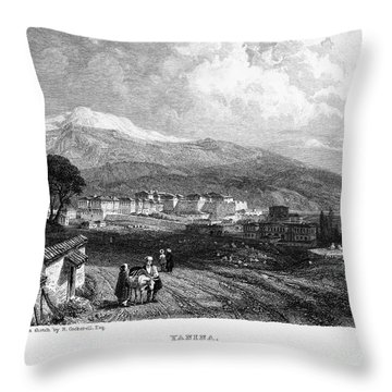 Greece: Yanina, 1833 Throw Pillow by Granger
