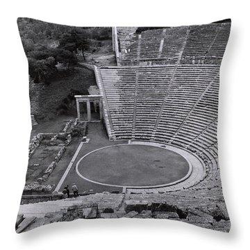 Greek Amphitheater Throw Pillow