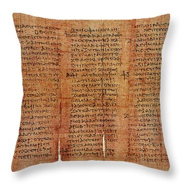 Greek Papyrus Horoscope Throw Pillow