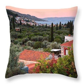 Greek Village  Throw Pillow by Emmanuel Panagiotakis