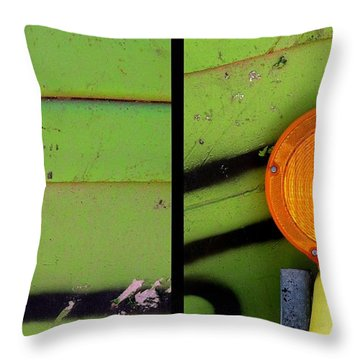 Green Bein' Throw Pillow by Marlene Burns