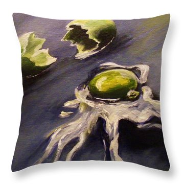 Green Eggs No Ham Throw Pillow