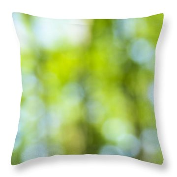 Green Forest And Blue Sky Throw Pillow by Elena Elisseeva