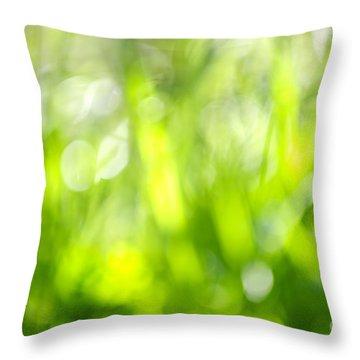 Green Grass In Sunshine Throw Pillow by Elena Elisseeva