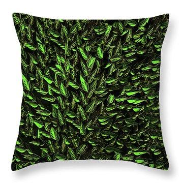 Green Leaf Throw Pillow by David Dehner