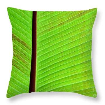Green Lines Throw Pillow by Sabrina L Ryan