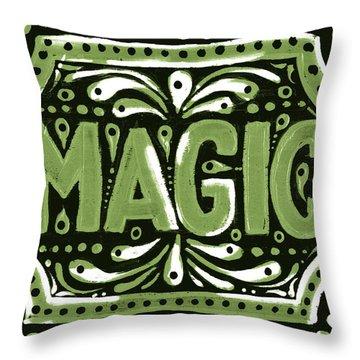 Green Magic Throw Pillow