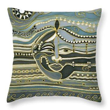 Green Maya Throw Pillow