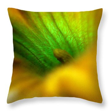 Greener On The Other Side Throw Pillow by Wanda Brandon