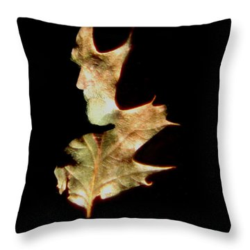 Greenman Throw Pillow by Arla Patch