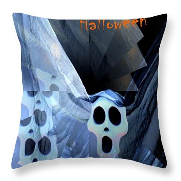 Greeting Card - Lost Souls Throw Pillow by Maria Urso