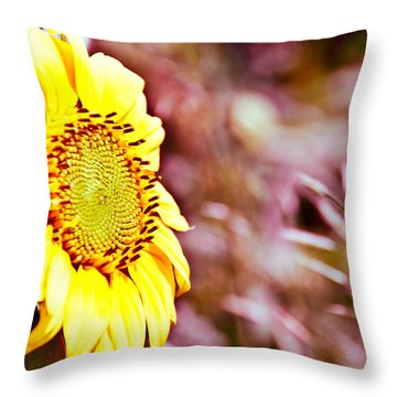 Throw Pillow featuring the photograph Greeting The Sun. by Cheryl Baxter