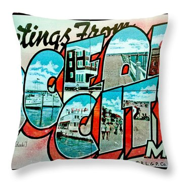 Greetings From Oc Throw Pillow by Skip Willits