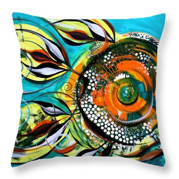 Gretchen Fish A Citrus Twist Throw Pillow