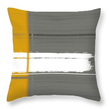 Grey And Yellow Throw Pillow