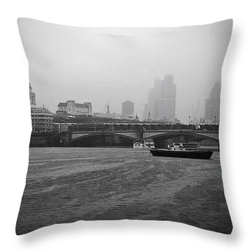 Throw Pillow featuring the photograph Grey London by Lenny Carter
