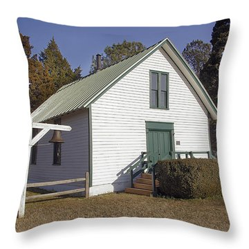 Griffiths Chapel 1850 Throw Pillow by Brian Wallace