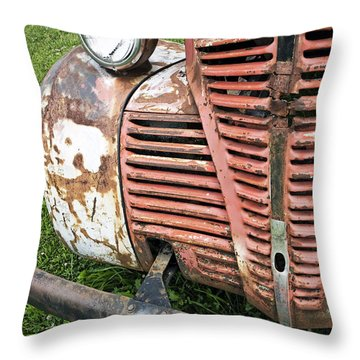 Grilled Throw Pillow by Glennis Siverson