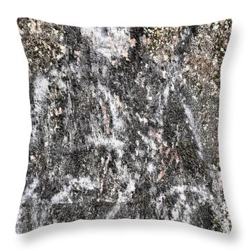 Grim Graffiti Throw Pillow by Kristie  Bonnewell