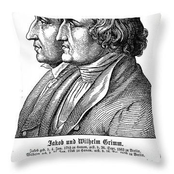 Grimm Brothers, 19th Cent Throw Pillow
