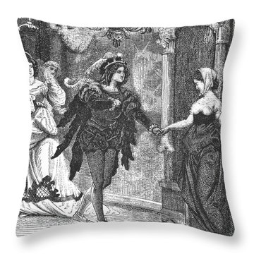 Grimm: King Thrushbeard Throw Pillow