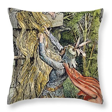 Grimm: Rapunzel Throw Pillow